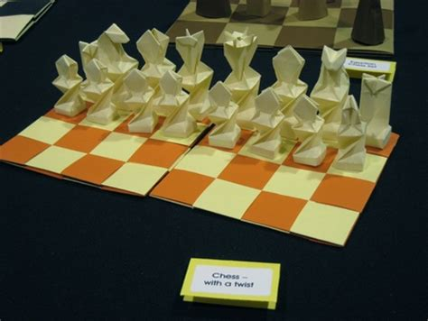 Origami Chess Set - pin origami chess set on