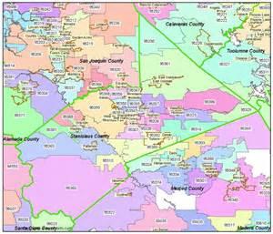 california zipcode map stanislaus county zip code map modesto ca zip codes