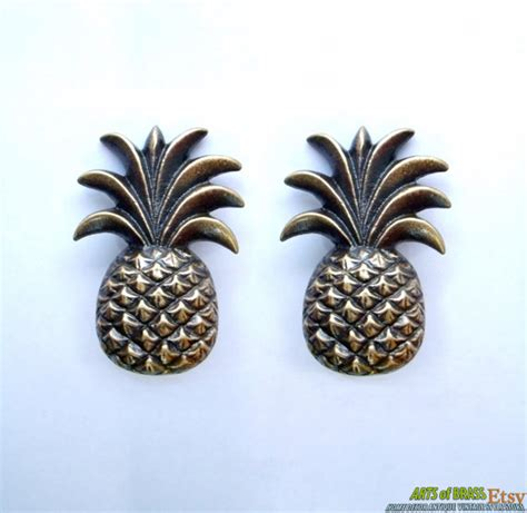 Antique Brass Kitchen Cabinet Pulls lot of 2 pcs antique pineapple fruits cabinet solid brass