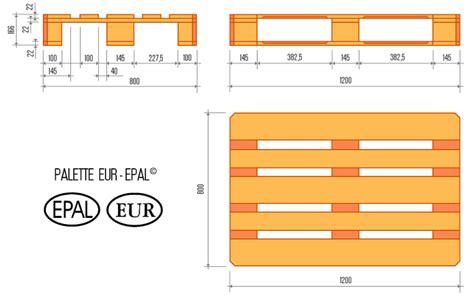 dimension d une palette europe la palette eur epal 1200x800mm palembal palembal