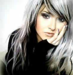 white hair with black lowlights black and white hair color google search hair color