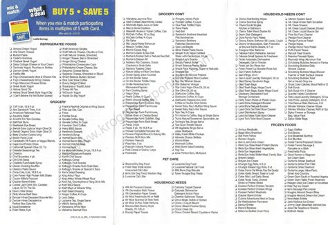 here it is kroger s full inclusions list for their buy 6 kroger buy 5 save 5 mega event inclusion list 3 8 3