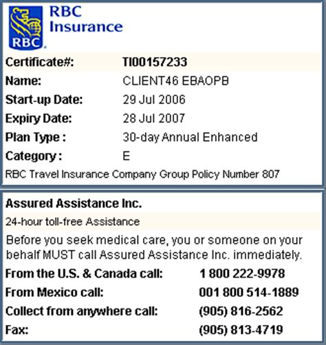Manage my Insurance Coverage available from RBC Royal Bank