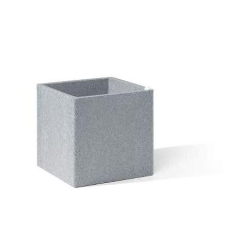 Grey Plastic Planters by Earth Planter 12 In Square Grey Granite Plastic Cube