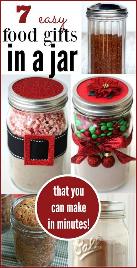 inexpensive homemade christmas gift food 7 quick food gifts in a jar jars homemade and christmas