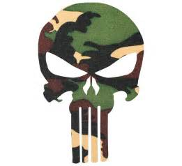 Camouflage Wall Stickers punisher camouflage military style decal