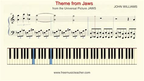 theme music to jaws how to play piano john williams theme from jaws piano