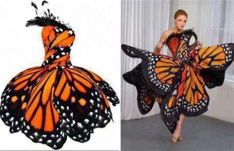 Butterfly Skirt Orange dress orange dress butterfly papillon wheretoget