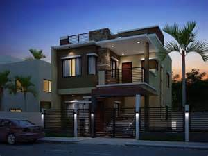 2 storey house two floor houses with 3rd floor serving as a roof deck