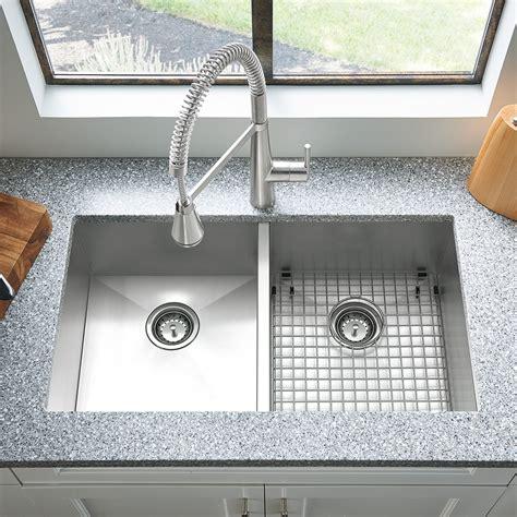 Edgewater 33x22 Double Bowl Stainless Steel Kitchen Sink Kitchen Sink Bowls