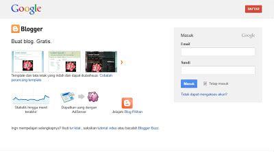 cara membuat blog ramai pengunjung cara membuat blog gratis menggunakan blogger klu ic