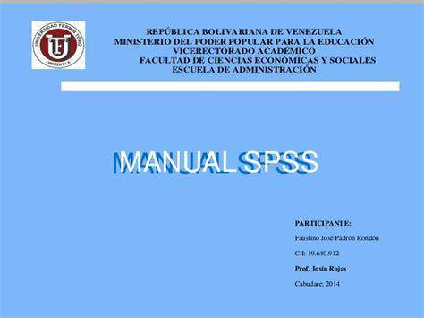 manual de spss manual spss