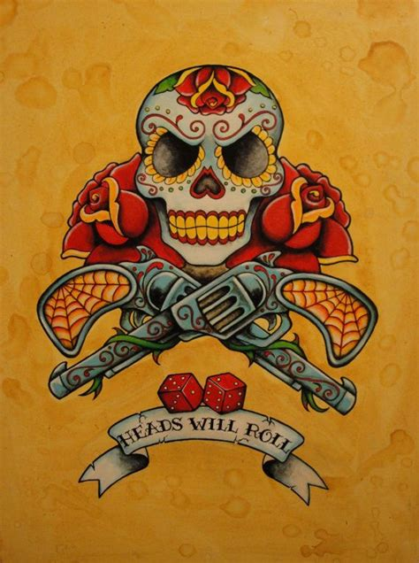 old school tattoo utrecht day of the dead neo traditional old school tattoo flash