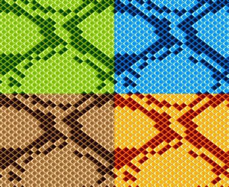 vector set of snake skin pattern elements 01 over tiger zebra leopards skin pattern free vector in adobe