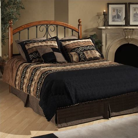 bedroom sets brton hillsdale burton way wood and metal poster bed in cherry