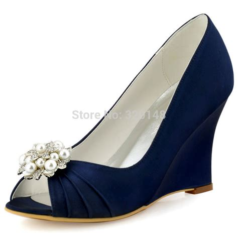 Navy Blue Satin Wedding Shoes by Popular Navy Heels Buy Cheap Navy Heels Lots From China