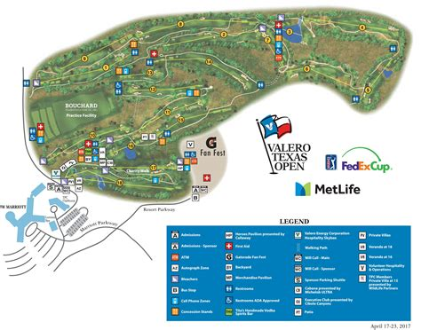 map us open golf valero open tournament course map