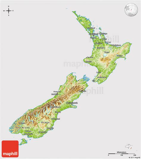 new zealand physical map physical 3d map of new zealand cropped outside