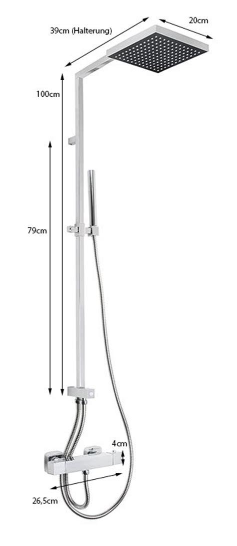 duschsã ule moderne duschs 228 ule mit thermostat und regendusche dusche