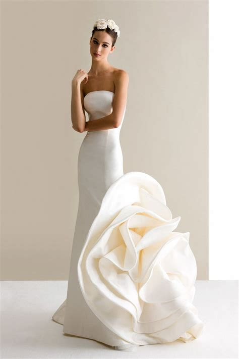 6 Gorgeous Strapless Wedding Gowns by Special A Line With Big Flowers Strapless Ivory