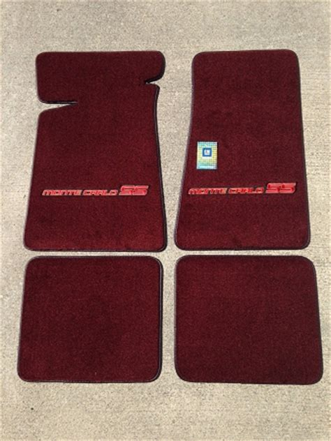 Small Carpet Mats by Maroon Carpeted Floor Mats With Small Mcss Logo