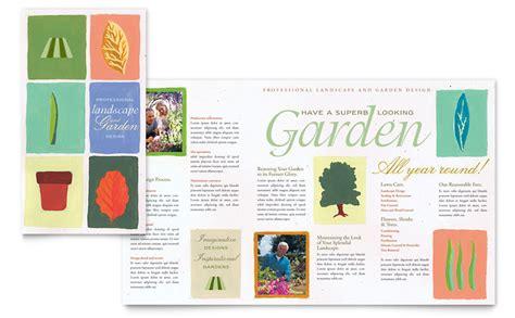 landscape brochure template garden landscape design brochure template word publisher