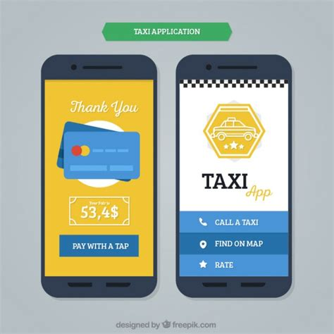 free app for mobile mobile application template for taxis vector free
