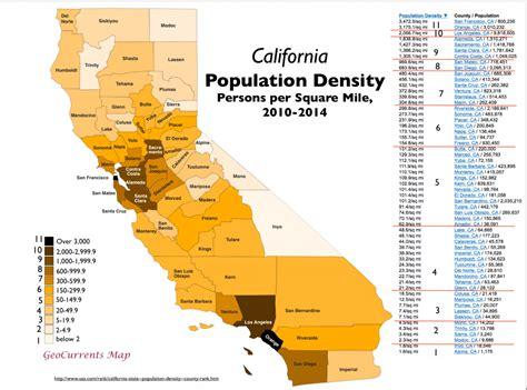 california map by population america geocurrents