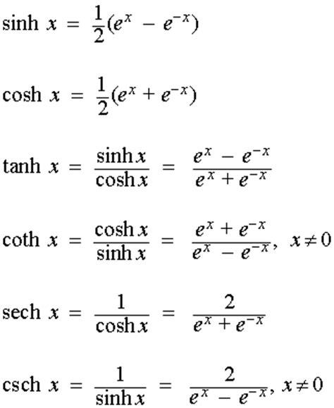 cosh infinity hyperbolic functions
