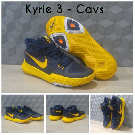 Sepatu Basket 7 jual sepatu basket nike kyrie irving 3 cavs darkblue yellow korionz shop