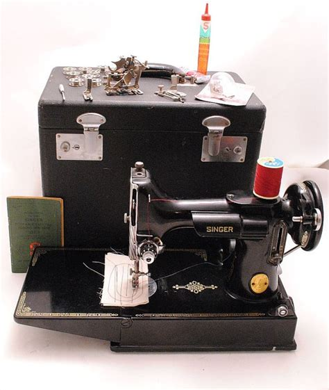 antique singer featherweight 1949 portable sewing machine singer featherweight sewing machine 1940s 221 1 portable