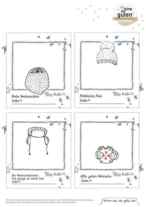 Postkarten Kalender Drucken by Gratisdownload Adventskalender Hangtags Geschenkanh 228 Nger