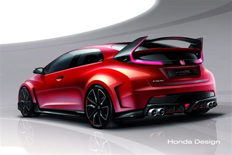 cars honda extreme concept honda says new civic type r concept is a racing car for