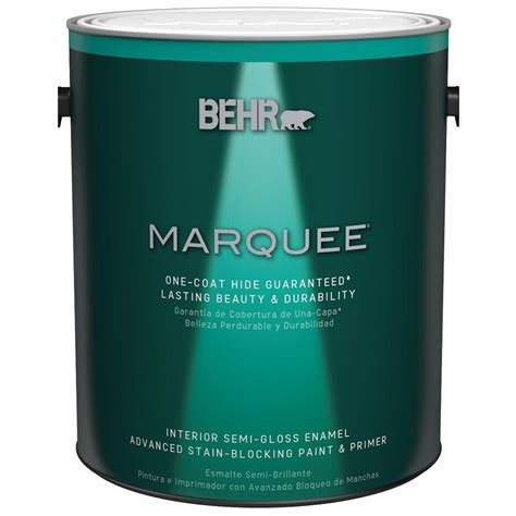 home depot marquee paint colors behr marquee 1 gal base semi gloss enamel interior