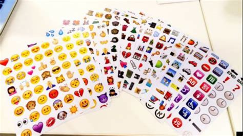Sticker Smiley Apple by Home Accessory Stickers Autocollants Emoji Print