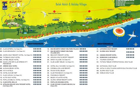 belek resort hotel map belek hotels turkey city or destination map