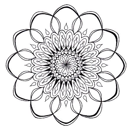 mandala designs coloring book printable coloring pages