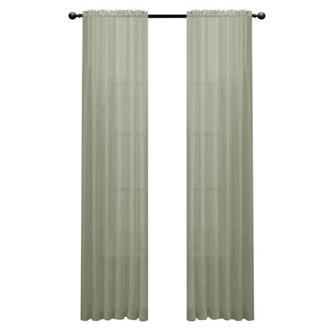 sage sheer curtains window elements sage solid voile extra wide sheer rod