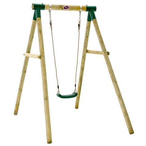 plum wooden single swing plum marmoset wooden garden swing set outdoor toys