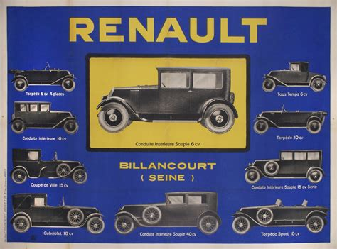 french renault french poster renault circa 1930s colletti gallery
