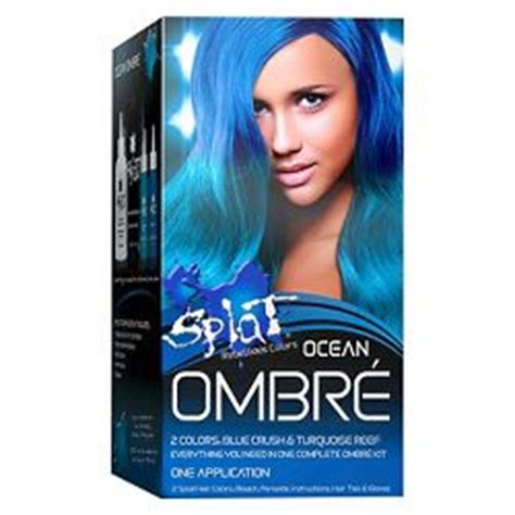 splat ocean ombre splat hair bleach and color kit target