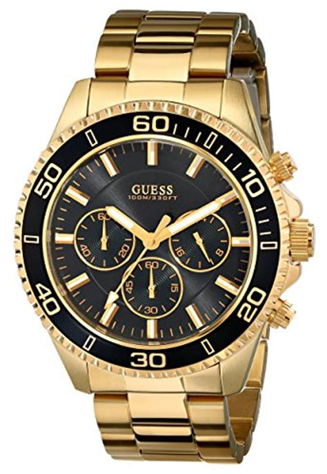 guess s u0170g2 sporty black gold tone