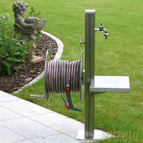 Metal Garden Hose Reel by Stainless Steel Garden Tap Station With Hose Reel Tap And