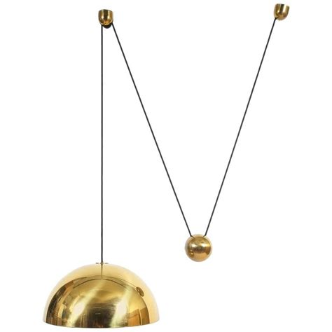 Counterweight Pendant Light Large Florian Schulz Counterweight Brass Pendant At 1stdibs