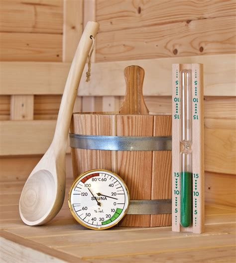 Syaluna Set sauna accessory set