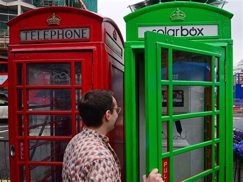 the green phone booth mindful calling booths in been converted into solar
