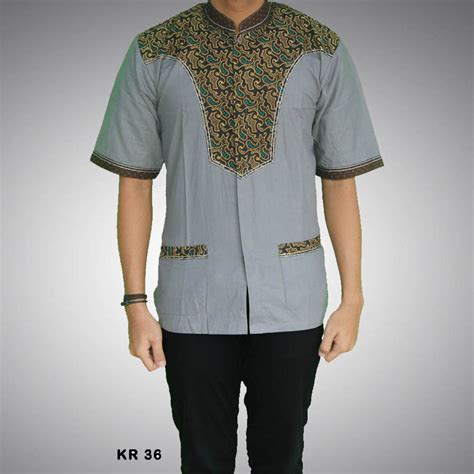 Kemeja Koko Modern Lgt kemeja batik koko pria modern kr 36
