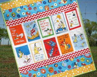 Dr Seuss Quilt Green Eggs And Ham Chevron Stripes Bright Baby Boy Crib Bedding