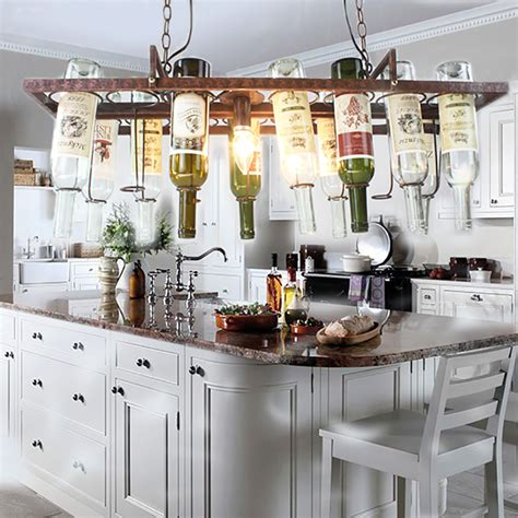 restaurant kitchen lighting aliexpress com buy diy vintage retro hanging wine bottle