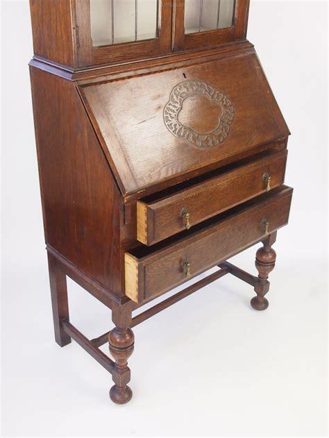 bureau vintage vintage oak bureau bookcase cabinet antiques atlas
